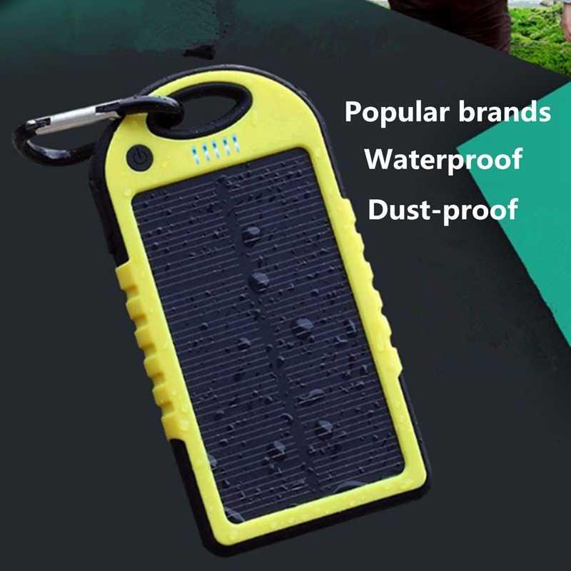 Cncool солнечная панель power Bank Dual USB внешний 4000 mAh аккумулятор зарядное устройство с зарядным кабелем для телефона планшета