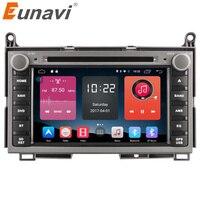 Eunavi 2 ГБ 2 din Android 6,0 четырехъядерный автомобильный dvd плеер Авторадио Стерео gps магнитофон для TOYOTA VENZA 2008 2015 головки