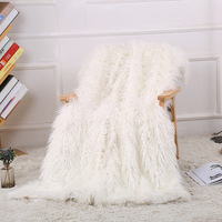 Artificial Fur Winter Double Layer Noridic Style Plush Throw Coral Fleece Flannel Blanket Sofa Cover Bed Sheet Nap Warm Throw