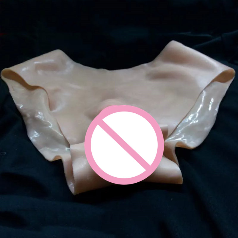 Size S Silicone Vagina Panties Drag Queen Vagina Transgender Vagina for Crossdresser Panties Shemale False Vagina Panty цена 2017