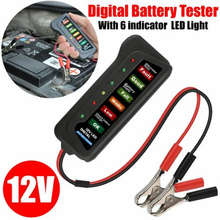 12V Digital Battery Alternator Tester 6 LED Display Volt Check Motorcycle Car For auto