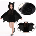 2017 New Cute Bat Costume Kids and adutl Black Zipper Jumpsuit Connect Wings Batman Child adults girl boy Animal Cosplay