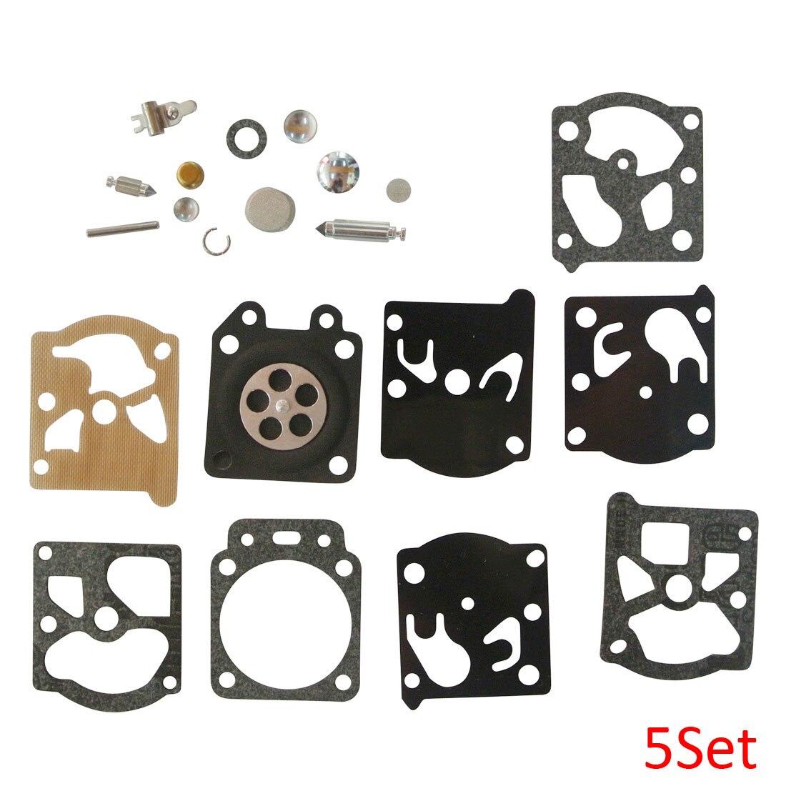 5Set Carb Kit For WT-626 WT-631 WT-640 WT-643 WT-649 WT-669 Walbro K24-WAT