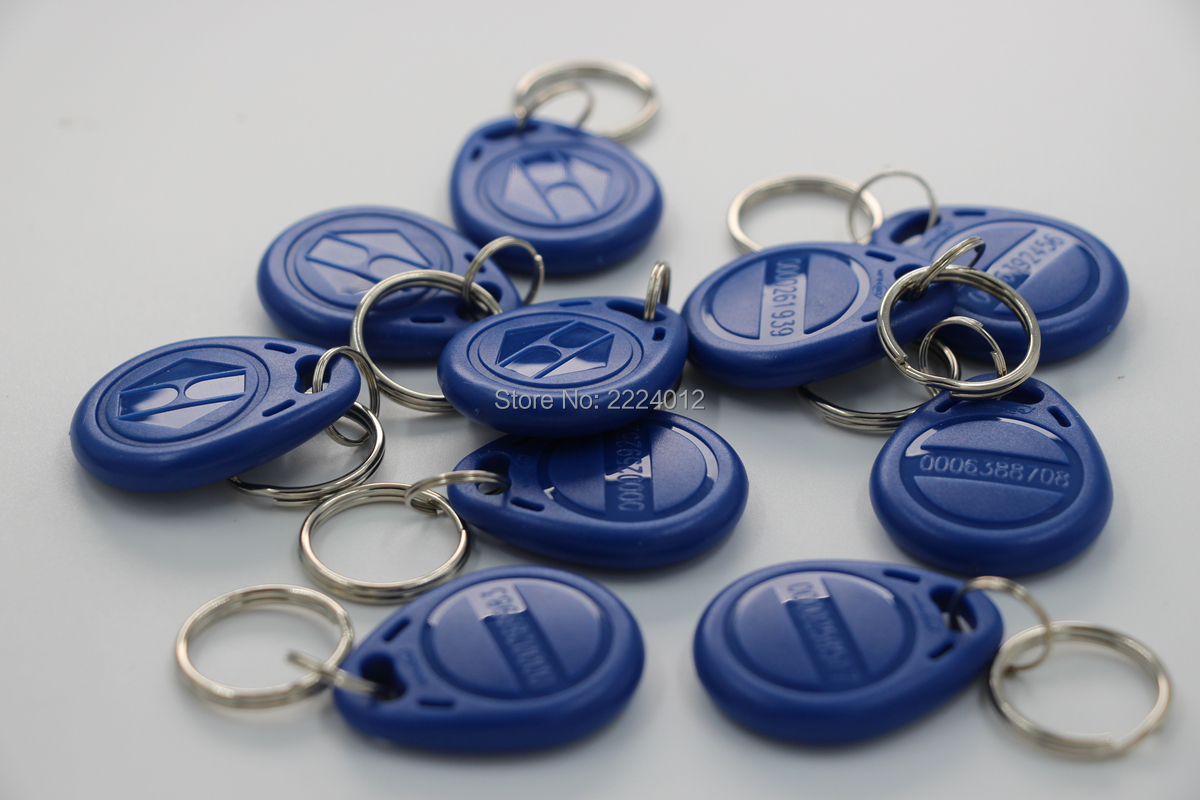 125Khz Proximity EM4100 TK4100 ( Read Only ) RFID ID Token Keyfob Keychain For Door Access System Switch Power