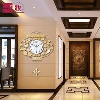 Clocks Wall Clock Modern Rustic Fashion Brief Fashion Personality Mute Quartz Clock