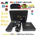 TV BOX Android 6.0 2GB16GB X96 S905X Amlogic Quad Core 6.0 WiFi HDMI 4 K KODI 16.1 Unidades Top Box Smart TV box + Air Mouse Keyboard