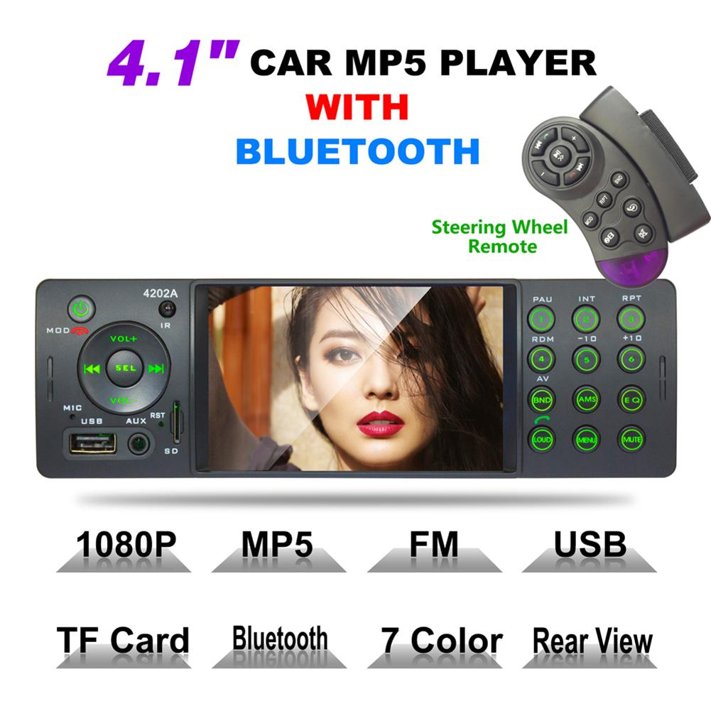 New MP5 Player Car Stereo 4 Inch Auto Radio Bluetooth Autoradio <font><b>USB</b></font> SD Aux FM <font><b>Receiver</b></font> Handsfree In-dash HD MP5 Video Player image
