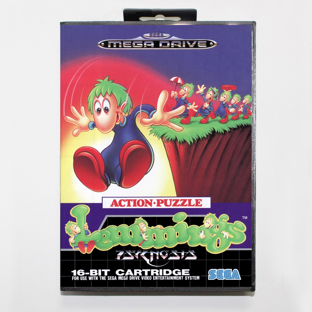 Aliexpress.com : Buy Lemmings Game Cartridge 16 bit MD Game Card With  Retail Box For Sega Mega Drive For Genesis from Reliable 16 bit suppliers  on Pocket ...
