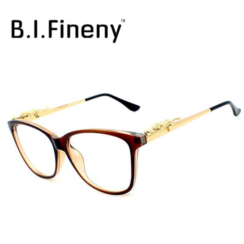 Novas Senhoras Da Moda armações de Óculos Mulheres Leopardo Chita  Decorativos Óculos De Leitura Quadros Óculos 5 Cor Nenhum Grau 786b95bb04
