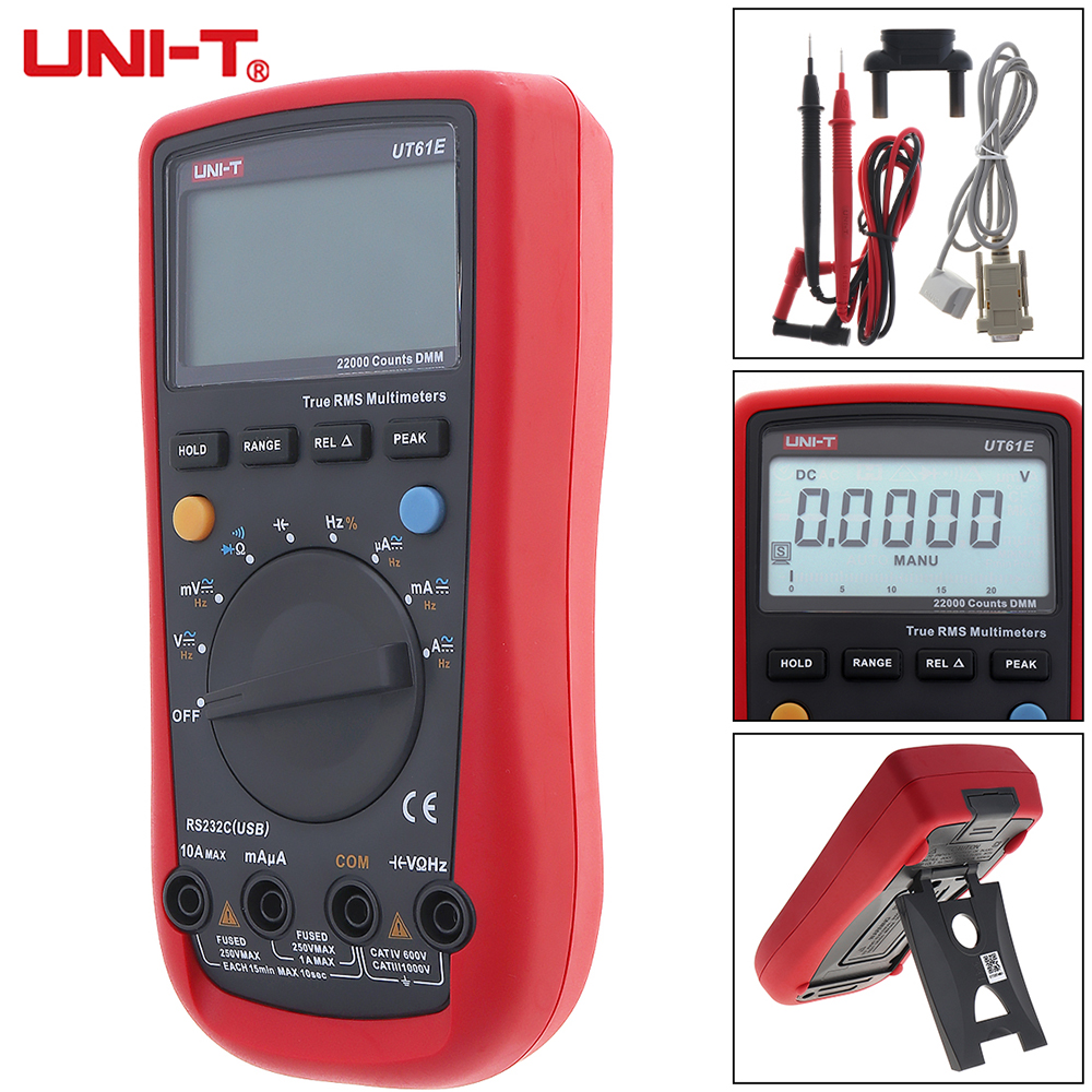 LCD Display 22000 Counts Handheld Digital Multimeter Backlight AC DC Voltage Current Tester Multi Meter Support Data Retention zoyi 6000 counts high precision digital multimeter measuremen autoranging lcd display low voltage ac dc ohm measurement tool