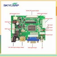 Skylarpu LCD Ekran TTL LVDS Denetleyici Kurulu HDMI VGA 2AV 50PIN AT070TN90 92 94 için Destek Otomatik VS-TY2662-V1