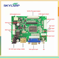 LCD Display TTL LVDS Controller Board HDMI VGA 2AV 50PIN For AT070TN90 92 94 Support Automatically