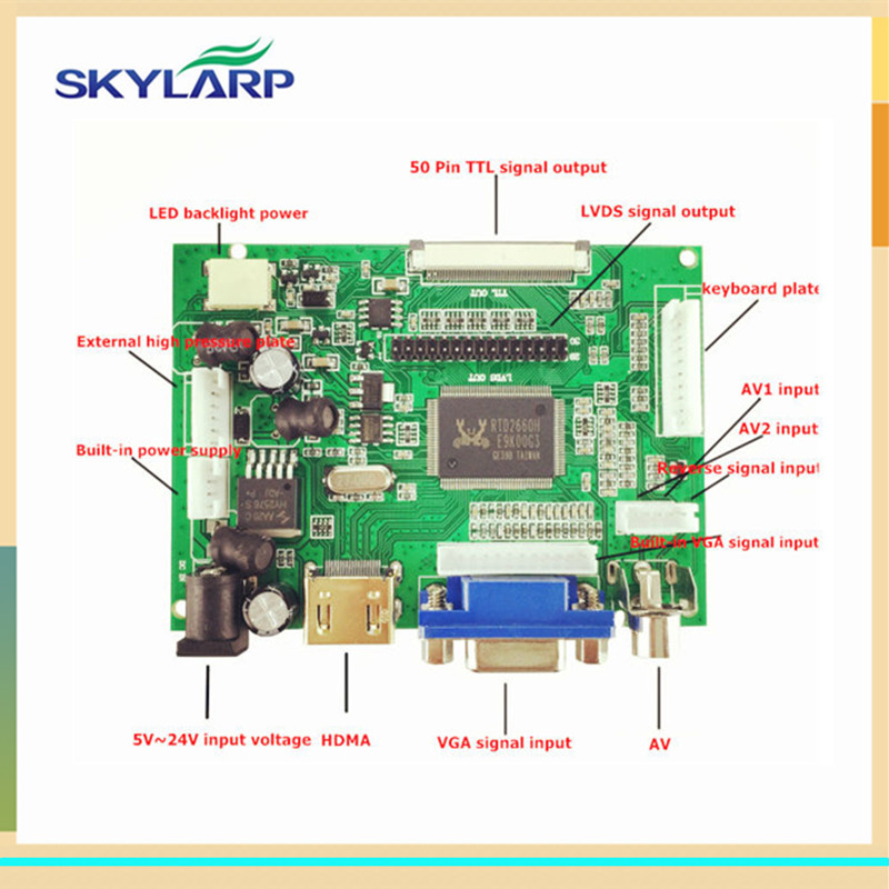 skylarpu LCD Display TTL LVDS Controller Board HDMI VGA 2AV 50PIN for AT070TN90 92 94 Support Automatically VS-TY2662-V1 aputure digital 7inch lcd field video monitor v screen vs 1 finehd field monitor accepts hdmi av for dslr