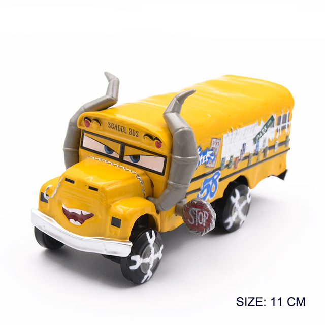 1:55 Disney Pixar Cars 3 2 Metal Diecast Car Toy Lightning McQueen Jackson Storm Combine Harvester Bulldozer Kids Toy Car Gift 2