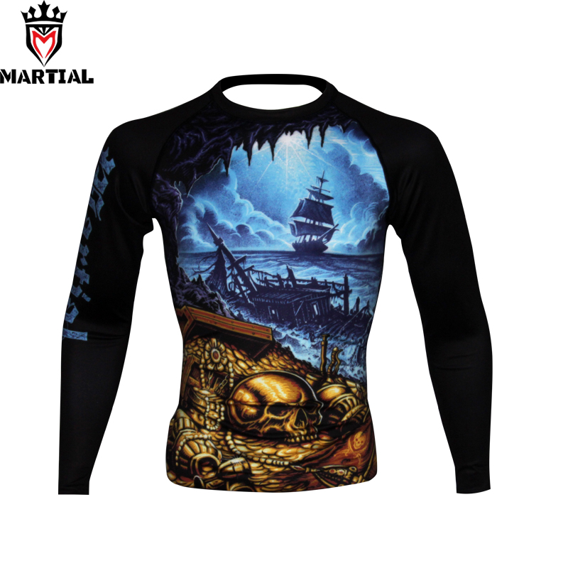 Bjj Rash Guard Mma Compression Long Sleeve Top Mens Armour Thermal Fight Wear Uk