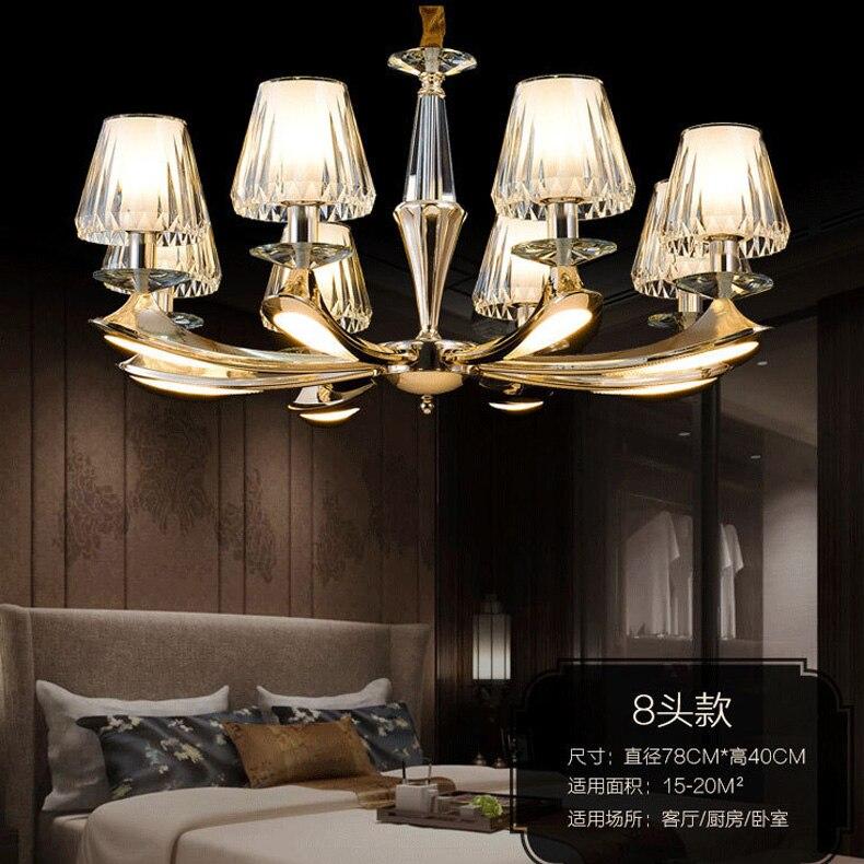 Modern chandelier living room golden chandelier light luxury European minimalist restaurant zinc alloy lamps skeleton hands style zinc alloy earrings golden pair