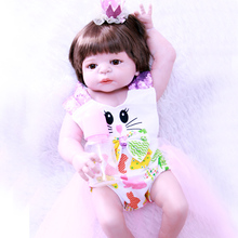 55cm Full Silicone Reborn Baby Doll Girl Toys Realistic Newborn Princess Babies Doll Lovely Birthday Gift Present lovely christmas reborn doll silicone 16inch newborn baby doll realistic toddler doll kids birthday gift