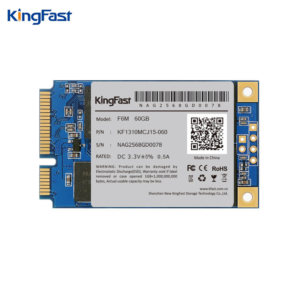 Kingfast F6M high quality internal SATA II/III Msata ssd 60GB MLC Nand flash Solid State hard hd disk Drive for laptop/notebook ...
