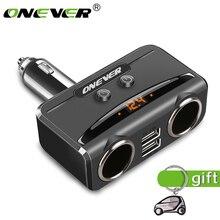 Onever USB Encendedor de Cigarrillos Del Coche Adaptador de Corriente Del Divisor Del Zócalo 12 V-24 V Max 5 V 3.1A Dual USB Cargador de coche con Voltímetro LCD