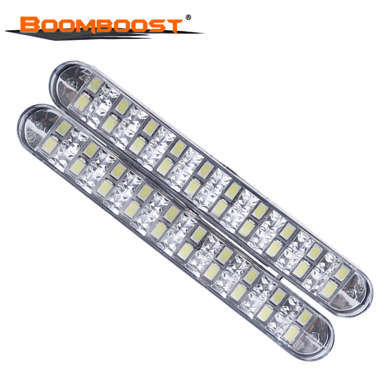 Us 11 55 10 Off 2pcs 12w 2x30 Led External Lamps With Turn Signal Lights Drl Daylight Day Running Universal Car Daytime Light In