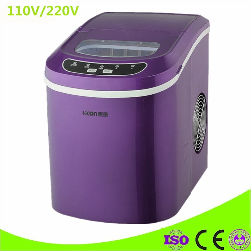 Portable Automatic Electric Ice Maker Household Mini Square Shaped Ice Making Machine 15kg/24H Home Family Small Bar Coffee Shop square pan rolled fried ice cream making machine snack machinery