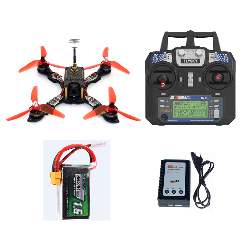 Мини гонщик Drone 210 мм с Flysky приемник FS I6 передатчик F4 Pro (V2) полет контроллер RC FPV Quadcopter RTF