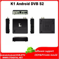 Receptor de satélite android k1 K1 s2 Quad Core android satélite caja s2 + Cccc 1 gb 8 gb xbmc android dvb-s2 receptor de tv híbrido caja