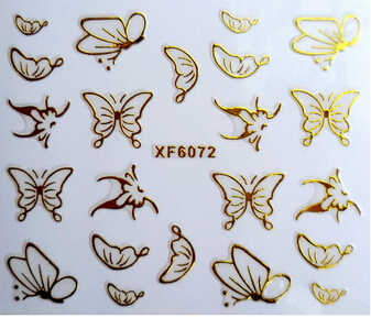 New nail sthicker 3D gold foil short bride patch green Japan applique Nail Polish stickers wholesale