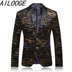 New fashion jacket gold seal tiger casual suit jacket men personality suit 2016 men in autumn.jpg 250x250