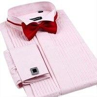 2016 New High Quality Men S Casual Shirts Luxury Wedding Dress Shirt Groom Swallow French Cufflinks