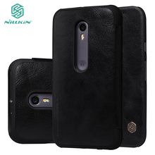 Original NILLKIN Qin leather case for Motorola G3 G 3 XT1540 XT1541 XT1542 XT1543 XT1544 XT1548 case for moto G 3rd Gen