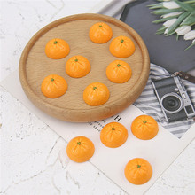 10 pcs simulation orange half pill resin slip cute fruit earrings lovely fun for women diy handmade jewelry accessories