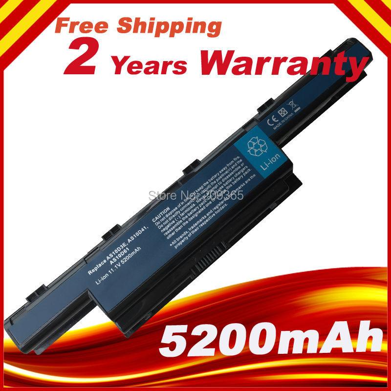 5200 mAh Batterie D'ordinateur Portable pour Acer Aspire E1 E1-571G V3 V3-471G V3-551G V3-571G V3-731 V3-771 V3-771G