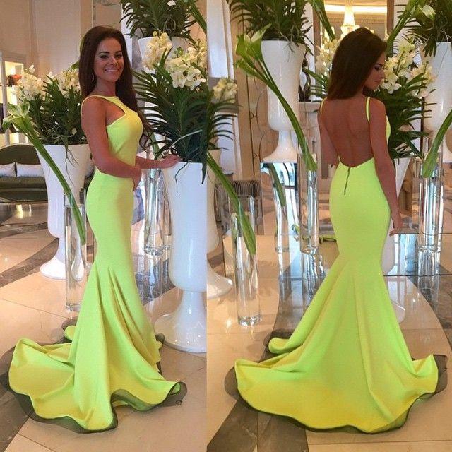 Vestido De Festa Sage Green Long Prom Dresses 2015 Halter Neck