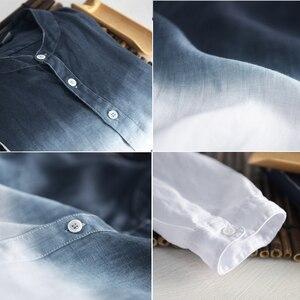 Image 5 - Holyrising גברים פשתן חולצה חדש קיץ גברים של פשתן חולצה גברים מותג חולצה mens שיפוע כחול חולצות זכר מזדמן 18814  5