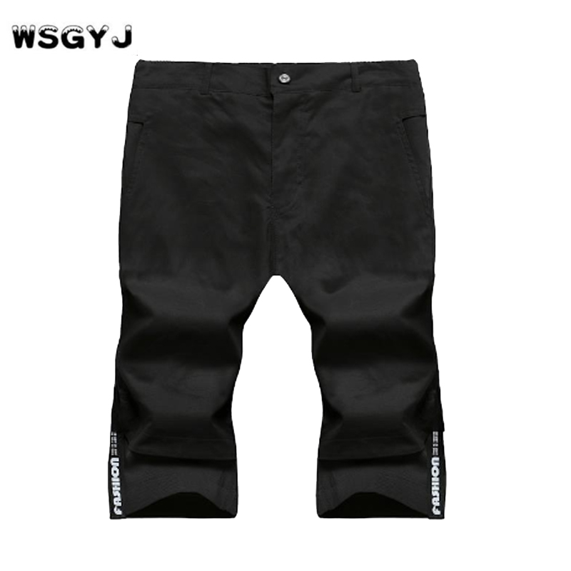 WSGYJ Shorts Mens Bermuda 2018 Summer MAN Beach Hot Cargo Men solid color Boardshorts Male MenS Short Casual Fitness M-5XL