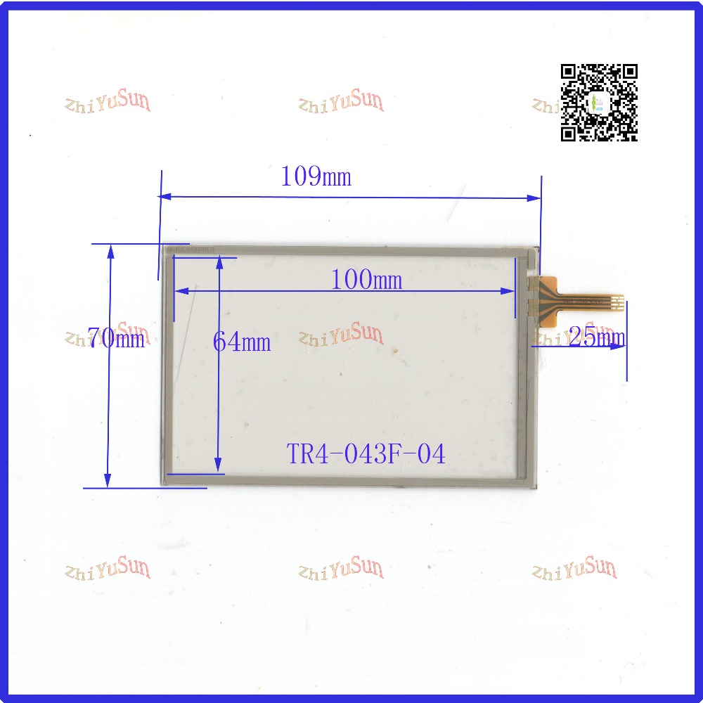 NEW TR4-043F-04 for 4.3GPS GLASS 109*70 for tble compatible for soling gps touch New 4.3 Inch Touch Screen 109mm*70mm