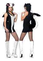 Ücretsiz Kargo Siyah ve beyaz hayvan Karikatür Penguen Cadılar Bayramı Kostümleri Kadınlar için Yeni 2014 Seksi Kostüm Dans Parti Kostüm