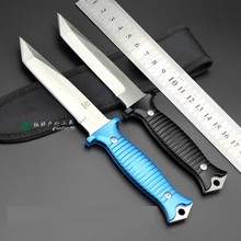 HOT!7Cr17Mov blade 58HRC Sanding and stone wash fixed blade knife hunting tactical outdoor knives survival  knife hand tools