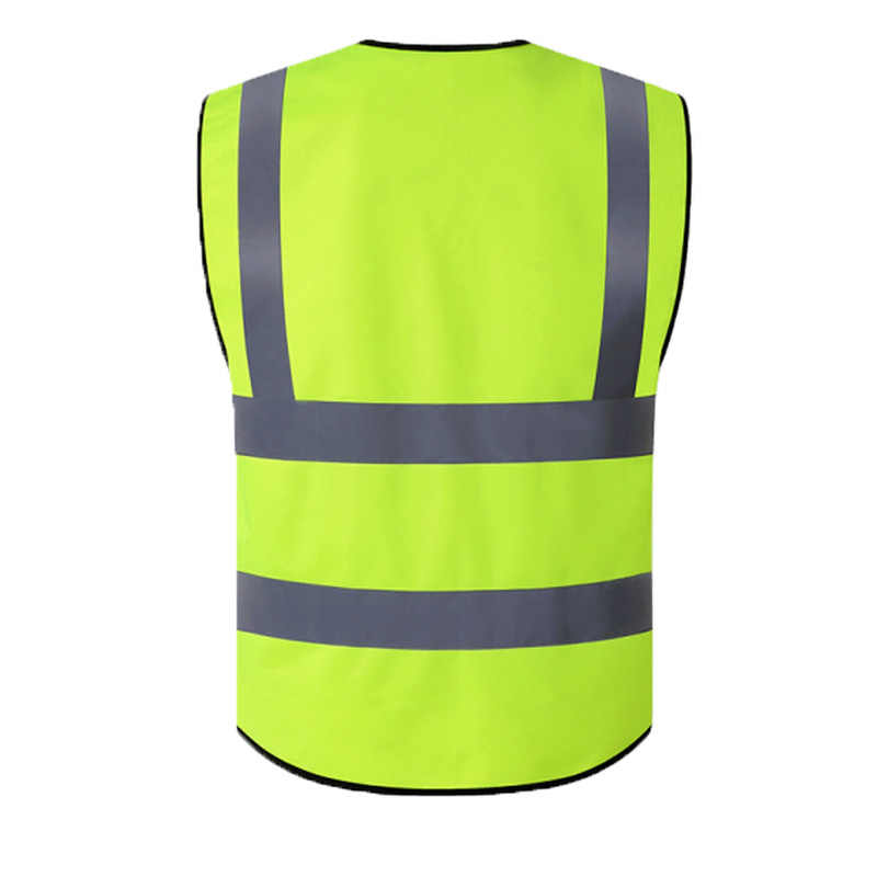 High Visibility Reflective Mens Safety Vest Unisex Top Waistcoat With 2 Big Tool Pockets 1 ID Pocket And Pens Pockets LOGO PRINT