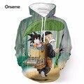 Cute Master Roshi and Kid Goku Printed 3D Hoodies Pullovers Anime Dragon Ball Super Saiyan Hooded Sweatshirts Hoodie Sportswear