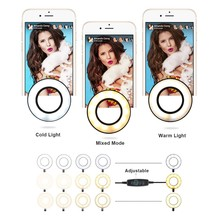 Photo Studio Selfie LED Ring Light with Cell Phone Mobile Holder