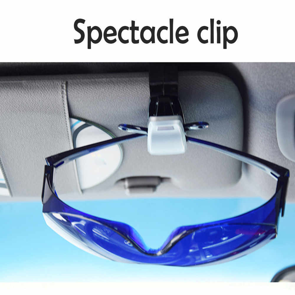 2019 Hot Sale Auto Fastener Cip Auto Accessories ABS Car Vehicle Sun Visor Sunglasses Eyeglasses Glasses Holder Ticket Clip USPS