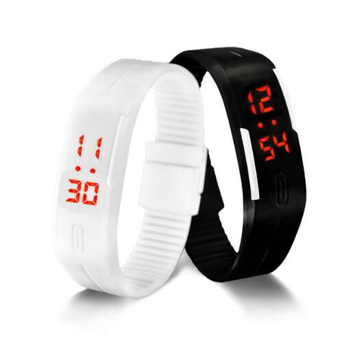 LED Digital Watch Electronic Wristwatches Korean Lovers Men Women Watches Creative Calendar Colorful Rubber Smart Montre Femme(China)