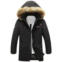 2017 New Spring Winter Down Brand Jacket Thin Men Pockets Fake Fur Collar Design ASIA Size