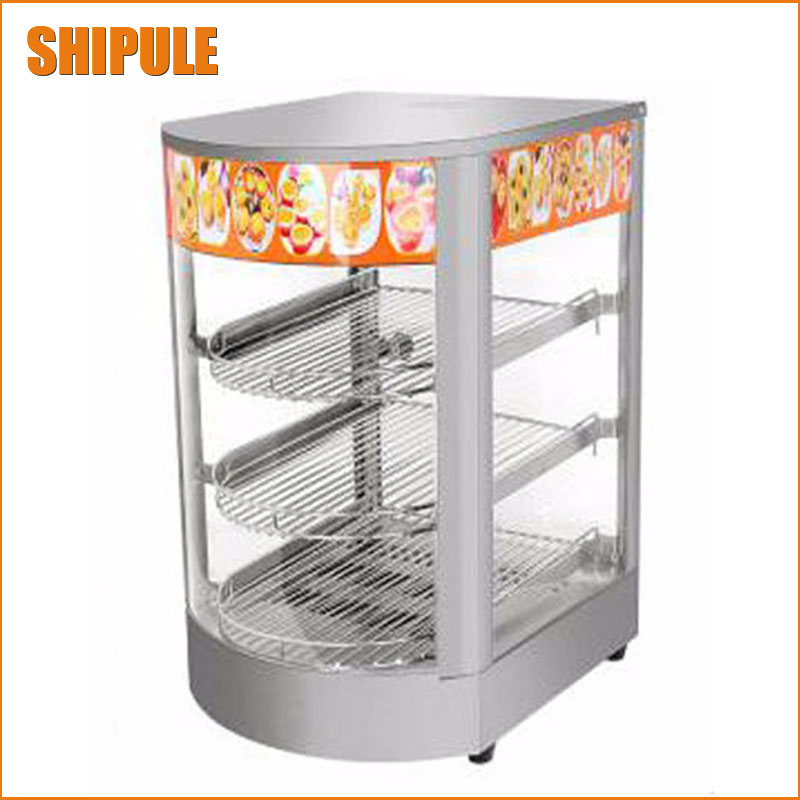 2017 New designed warming display commercial electric curved insulation food showcase food warmer price 1 2m food warmer displayer cheaper warming showcase for sale