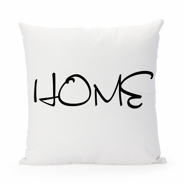 Aliexpress Buy Home Cushion Cover Black Letters Pillow Case
