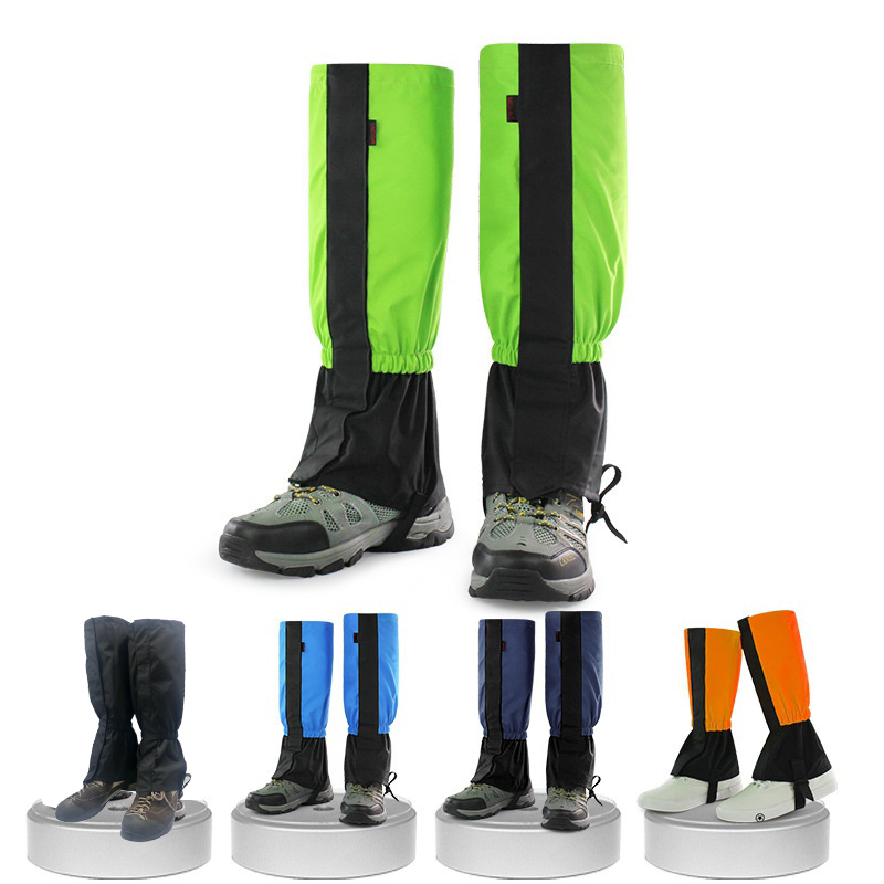 1 Pair Legging Gaiters Leg Warmers Waterproof Legging Leg Cover Snow Climbing Hunting Camping Ski Gaiters checkered pattern embellished color splice knitted leg warmers