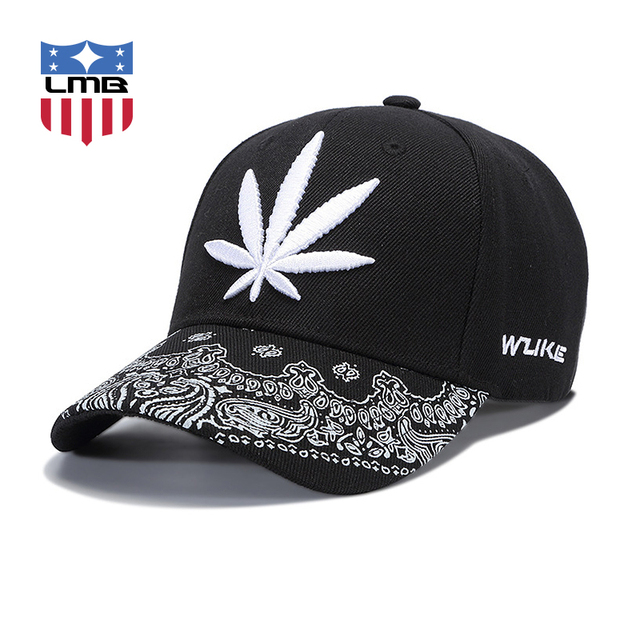 c05a5405f68b2 LMB Weed Embroidery Curved Brim Printing Men Summer Hat Snapback Cotton  Blends Baseball Caps For Women Travel Fashion Male Cap