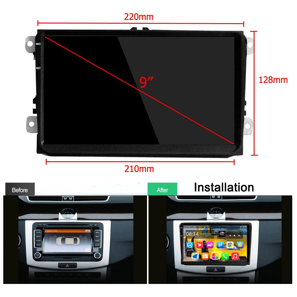 Car Video Player 9 inch Capacitive Touch Screen Android 5 1 Built in WIFI Bluetooth GPS Navigation Car Multimedia Player in Car Multimedia Player from Automobiles Motorcycles